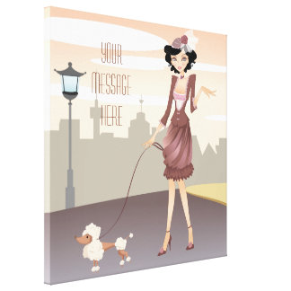 Parisian Girl Wrapped Canvas