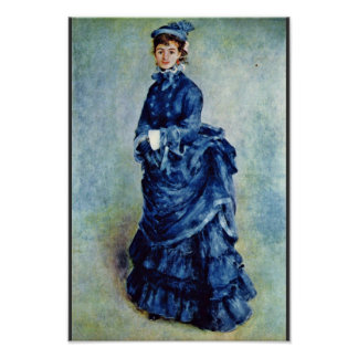 Parisian Girls (The Lady In Blue) By Pierre-August Print
