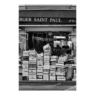 Parisian Grocery Store - Poster