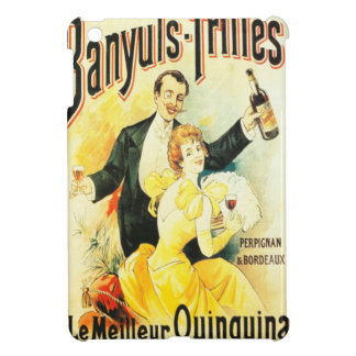 Parisian high society couple drinking vintage cover for the iPad mini