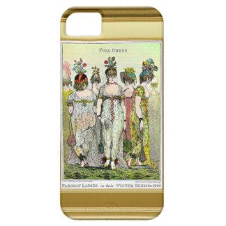 Parisian ladies in their winter dresses iPhone SE/5/5s case