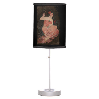 Parisian Lady on Black Desk Lamp
