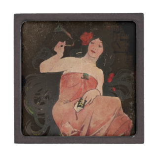 Parisian Lady on Black Jewelry Box