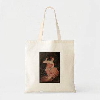 Parisian Lady on Black Tote Bag