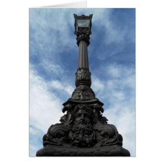Parisian LampPost Neptune god of the Sea Card