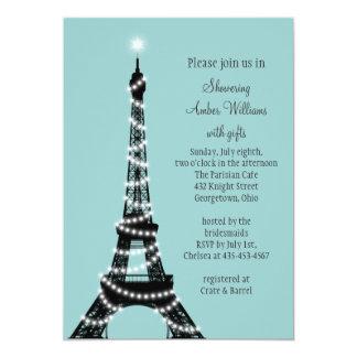 "Parisian Lights Bridal Shower Invitation 5"" X 7"" Invitation Card"