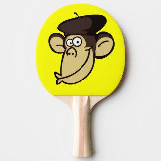 Parisian Monkey Ping-Pong Paddle