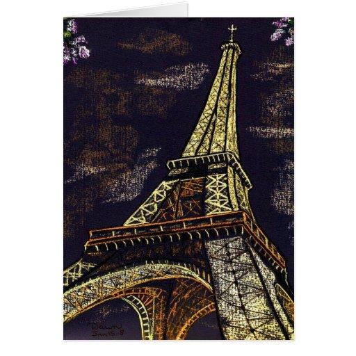 parisian nights - note cards