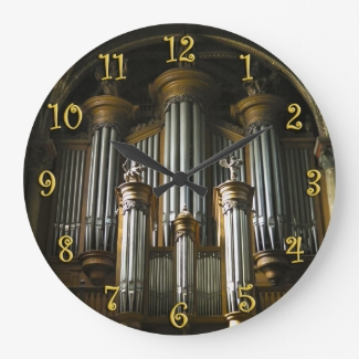 Parisian organ round clock