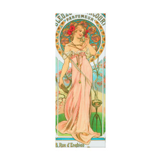 Parisian Perfume Vintage Advertisement Canvas Print