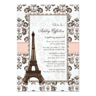 Parisian Pink Bridal Shower Invitations