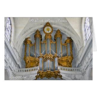 Parisian pipe organ card