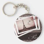 Parisian Postcards Art Deco Style Keychains