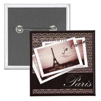 Parisian Postcards Buttons