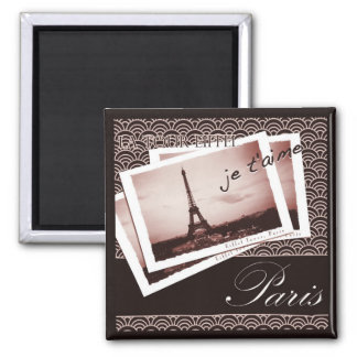 Parisian Postcards Magnet