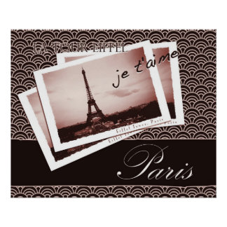 Parisian Postcards Poster or Print