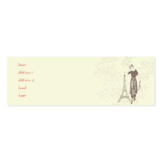Parisian Profile Card Double-Sided Mini Business Cards (Pack Of 20)