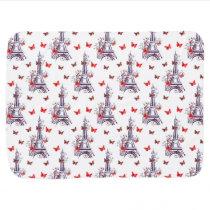 Parisian Romantic Purple Eiffel Tower Butterflies Stroller Blanket