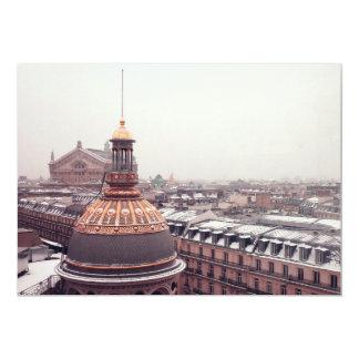 Parisian rooftops card