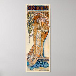 Parisian Sarah Bernhardt Theater Advertisement Poster