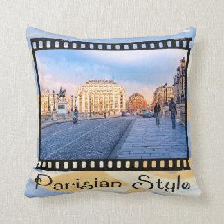 Parisian Style - View Of The Pont Neuf Throw Pillow