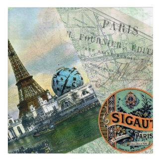 Parisian Style Vintage Travel Acrylic Print