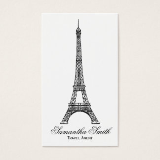 Parisian Theme Eiffel Tower Travel Agent Business Card