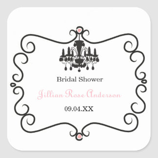 Parisian Themed Bridal Shower - Square Sticker