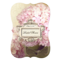 Parisian Vintage Hydrangea Manor Bridal Shower Card