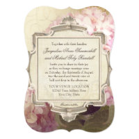 Parisian Vintage Hydrangea Manor House Formal Invitation