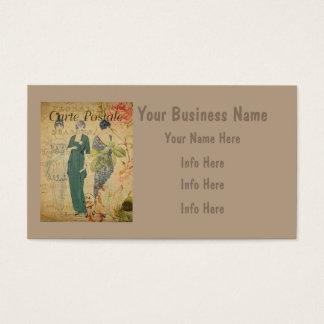 Parisian Vintage Ladies Business Card