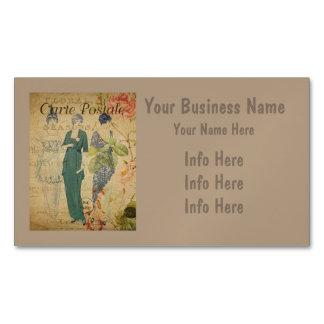 Parisian Vintage Ladies Business Card Magnet