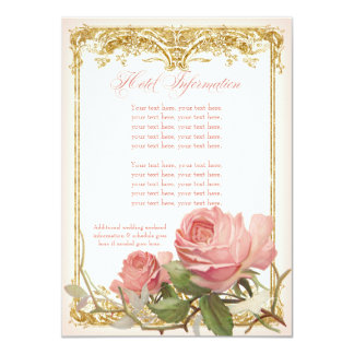 Parisian Vintage Rose Manor House Couples Shower Card
