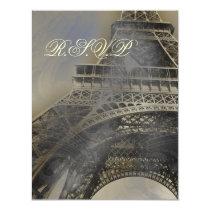 Parisian wedding  rsvp cards
