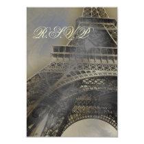 Parisian wedding  rsvp cards standard 3.5 x 5