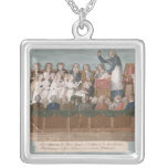 Parisians Offering their Jewellery Square Pendant Necklace