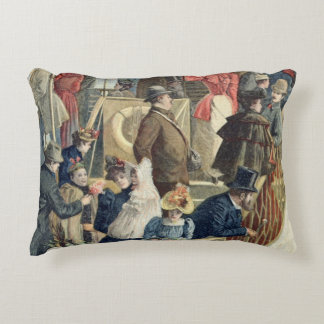 Parisians Returning from the Countryside Accent Pillow