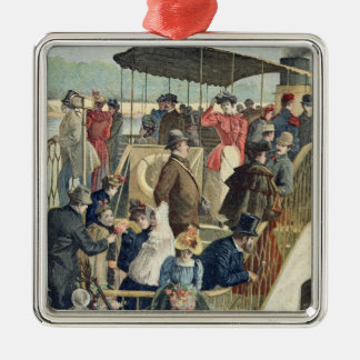 Parisians Returning from the Countryside Metal Ornament
