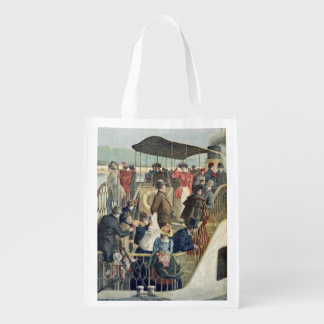Parisians Returning from the Countryside Reusable Grocery Bag