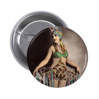 Parisienne Casino Dancer 2 Pinback Button