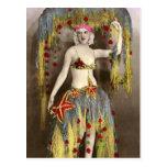 Parisienne Casino Dancer 3 Post Card