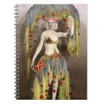 Parisienne Casino Dancer 3 Spiral Note Book
