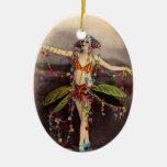 Parisienne Casino Dancer Ceramic Ornament
