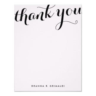 Parisienne Chic Flat Thank You Note Card