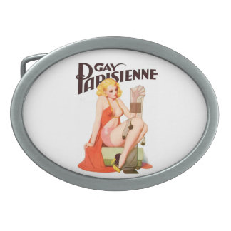 Parisienne gay 1 hebilla del cinturón hebillas cinturon ovales
