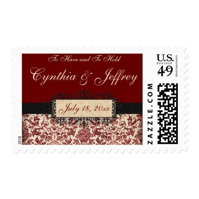 Parisienne Love Wedding Postage Stamp