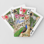 Parisienne Peacock Playing Cards