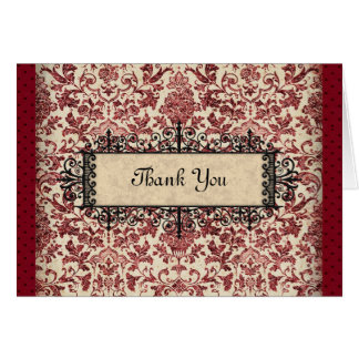 Parisienne Thank You Stationery Note Card