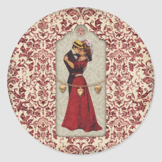 Parisienne Wedding Collection Classic Round Sticker