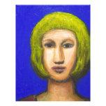 Parisienne with a bob haircut(naive expressionism) letterhead template